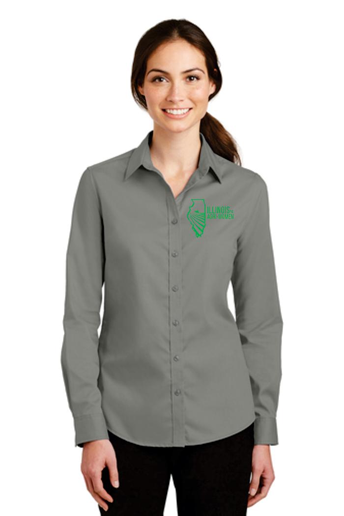 a58cb9281e4 Illinois Agri Women Button Up Shirt - Kaleels