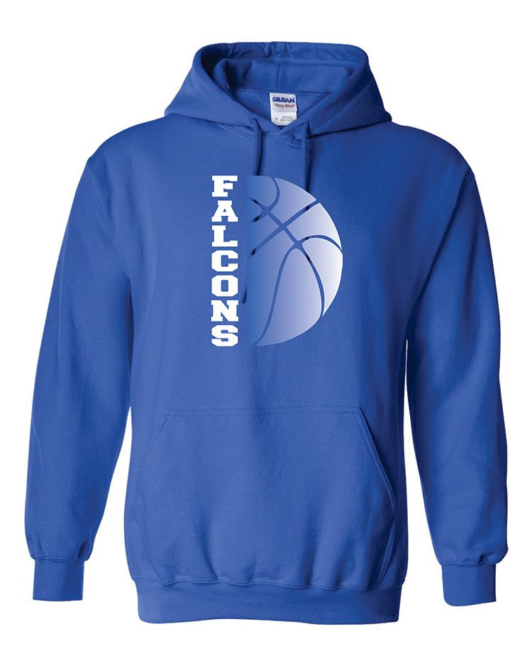 4-Falcons basketball gildan royal hoodie