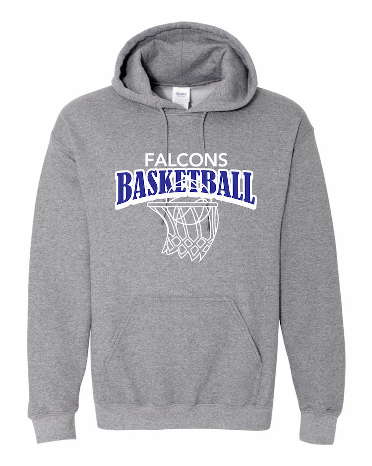 Falcons Basketball graphite hoodie