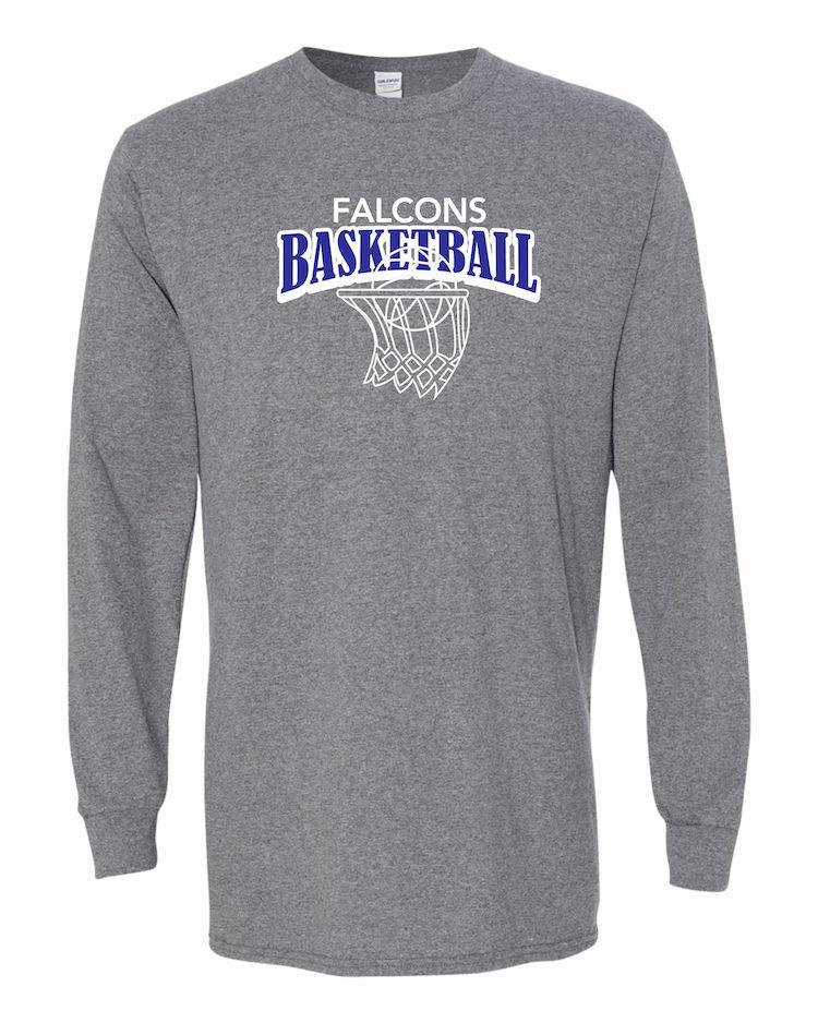 Falcons Basketball graphite long sleeve