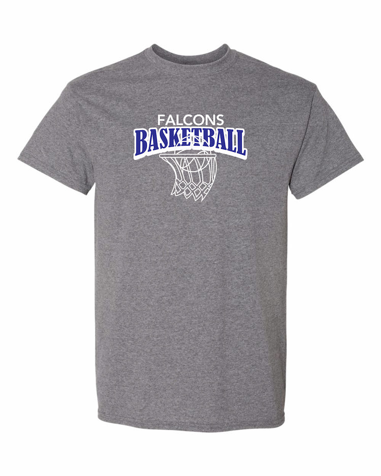 Falcons Basketball graphite shirt